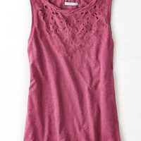 AEO Women's Weathered Muscle Tank (Maroon)