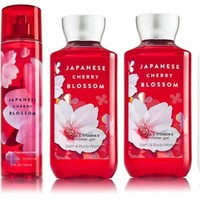 5 SET Bath & Body Works JAPANESE CHERRY BLOSSOM Collection