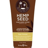 Earthly Body Hemp Seed Hand and Body Lotion - Nag Champa - 7 Fl.  Oz.