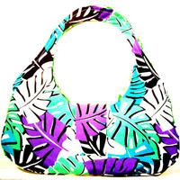Which Island Will You Be Relaxing On.... OOAK Colorful Tropical Leaf Handbag