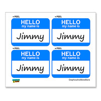 Jimmy Hello My Name Is - Sheet of 4 Stickers