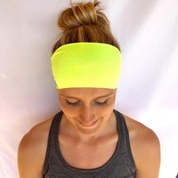 Fitness Headband - Workout Headband - Running Headband - Yoga Headband - Electric Lemon