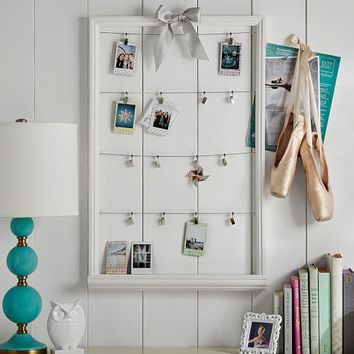 Study Wall Board, Cable Frames, White