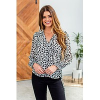 Think A Little Less Top-Ivory/Black