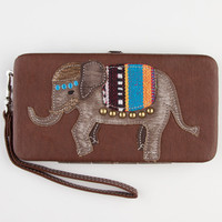 Elephant Wallet Cognac One Size For Women 23490540901