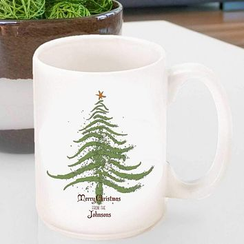 Personalized Vintage Holiday Coffee Mug - All