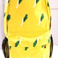 Fresh Chives Print Canvas Backpack from styleonline
