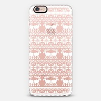 White Transparent Ugly Xmas Holiday Sweater 8-Bit Moose Pattern iPhone 6s case by Rex Lambo | Casetify