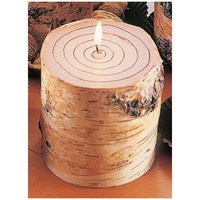 Wild Wings Birch Bark Round Candle
