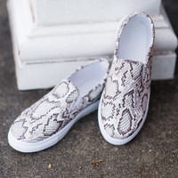 Call Of The Wild Sneakers, White Snakeskin