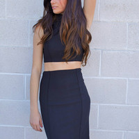 Black Pencil Skirt Dress