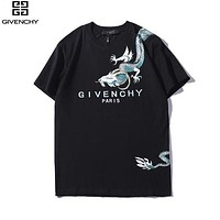 Givenchy Summer New Fashion Dragon Pattern Print Loose Tide Brand Round Neck Half Sleeve T-shirt Top