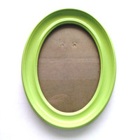 Green Picture Frame - Green Painted Frame - Oval Picture Frame - 5x7 Picture Frame - Classic Frame - Whimsical Frame - Table Top Frame
