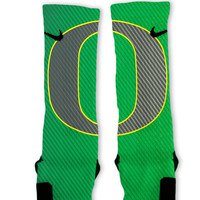 Oregon Ducks Custom Nike Elite Socks