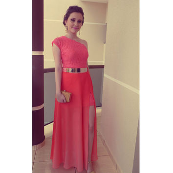 One Shoulder Party Dress For Prom pst0487