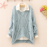 funshop — Over Size Knit Sweater for Women