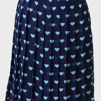 Sweetheart Pleated Skirt By Sugarhill
