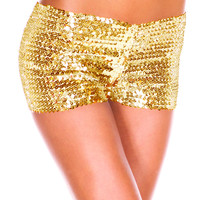 Gold Shiny Sequined Panties
