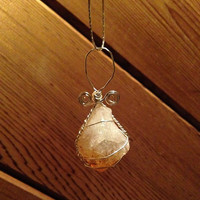 Citrine Wire Wrapped Metaphysical Crystal Pendant