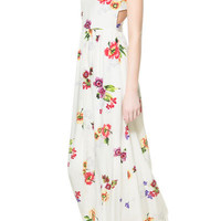 LONG PRINTED DRESS WITH OPENING AT THE BACK - Trf - Dresses - Woman   ZARA United States
