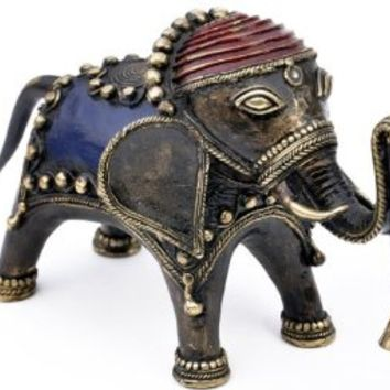 [USE DISCOUNT CODE] - Home Decor Wishing Bell Trunk up Elephant (Heavy Duty 11 Inch Large - 2.38 KG Weight ) Symbol of Power, Lucky Chram Metal Sculpture Statue Bronze Animal Figurine