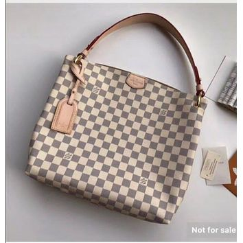LV Louis Vuitton OFFICE QUALITY DAMIER CANVAS Artsy HANDBAG TOTE BAG