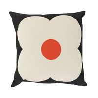 Daisy Face Throw Pillow in Black