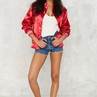 Stay Cute Fight Like a Girl Bomber Jacket