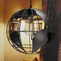 Retro Globe Ceiling Light Pendant With Map Metal Shade Home Office Decor Lamp