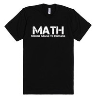 Math-Unisex Black T-Shirt