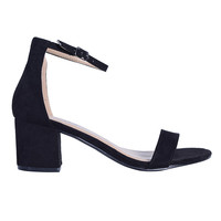 In The Dark Faux Suede Heel