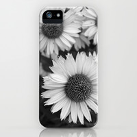 Black and White Echinacea iPhone & iPod Case by Brooke Ryan Photography