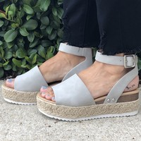 Summer Trip Shoes- Grey