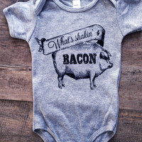 What's Shakin Bacon Baby Onesuit Bodysuit