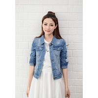 Women's Fitted Jean Jacket 5 Colors