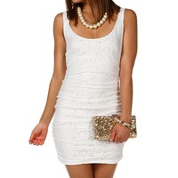 Sale-white Lace Fitted
