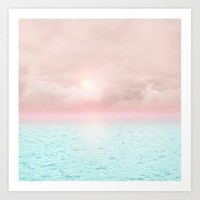 Calm sunset 02 Art Print by vivianagonzalez