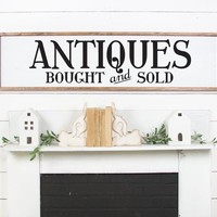 ANTIQUES Bought and Sold Vintage Market Style Farmhouse Kitchen Vinyl Wall Decal Art Home Decor