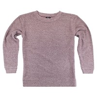 Maroon Red Cozy Loop Terry Crew Neck Shirt Adult Sizes