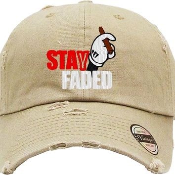 STAY FADED Distressed Baseball Hat