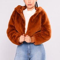 Fairest Faux Of Them All Jacket - Camel