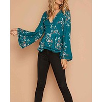 Final Sale - MINKPINK - Secret Garden Plunge Top in Multi