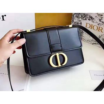 DIOR fashion casual shopping bag hot seller with monochromatic letter button shoulder bag #3