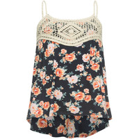 FULL TILT Crochet Bodice Girls Tank | Tanks & Camis