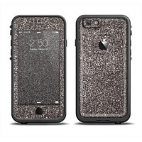 The Black Glitter Ultra Metallic Apple iPhone 6/6s LifeProof Fre Case Skin Set
