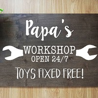 CHRISTMAS FAST SHIPPING- Gift for Father Day Funny Sign Bar Pub Garage Diner Cafe Home Wall Decor Home Decor Art #M05
