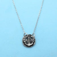 Anchor, Circle, Marine, Sign, Necklace