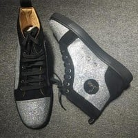 Christian Louboutin CL Rhinestone Style #2104 Sneakers Fashion Shoes Online