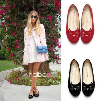 Red Black Car Casual Flat Shoes [11136593551]