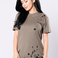 Hey Lover Tunic - Olive